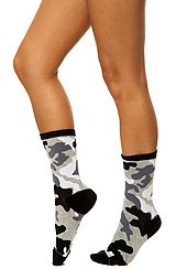 The Camouflage Socks in Black