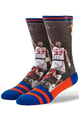 The NBA Legends Patrick Ewing Socks in Blue & Orange