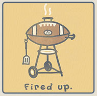 Men's Crusher Tees Football Grill
