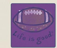 Women's Crusher Life is good Football