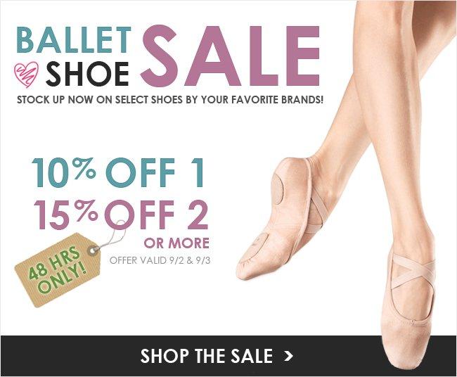 Labor Day Ballet Slipper Sale