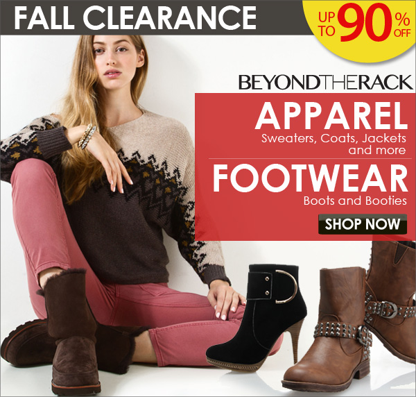 Fall Clearance - Up to 90% Off