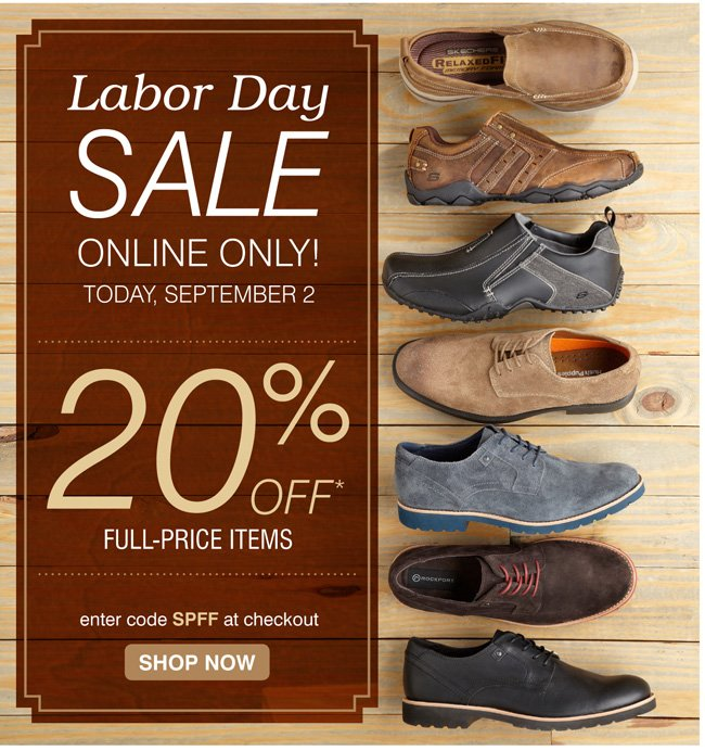 20% off full priced items