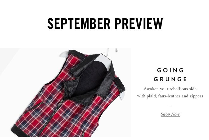 Going Grunge - Shop Now