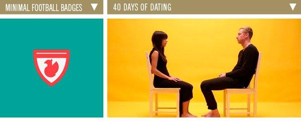 Minimal Football Badges | 40 Days of Dating