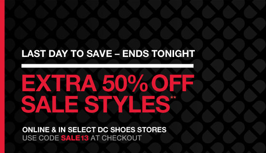Last day to save- Ends Tonight