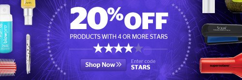 20% Off 4+ Star Products