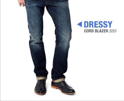 DRESSY | CORD BLAZER $89