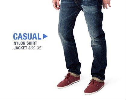 CASUAL | NYLON SHIRT JACKET $69.96