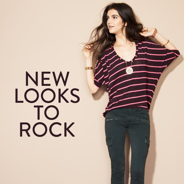 NEW LOOKS TO ROCK