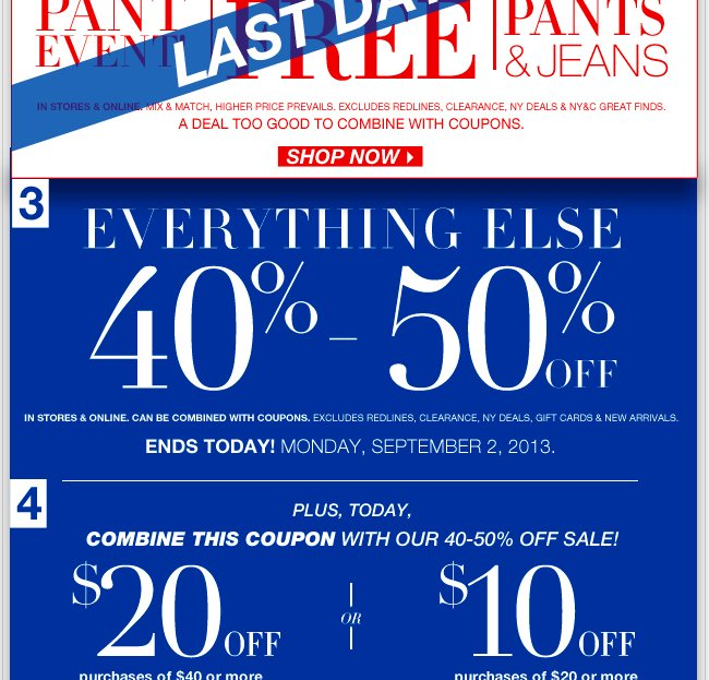 Shop unbelievable NY Deals, plus everything else up to 50% off! Shop NOW!