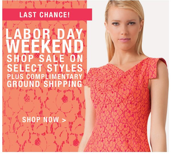 Last Chance: Shop Sale on Select Styles