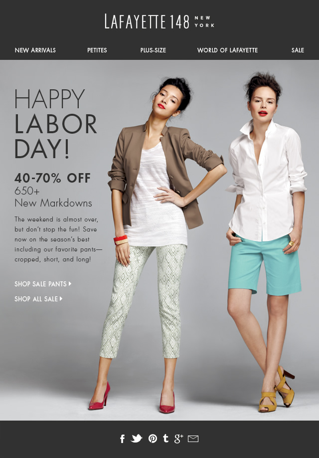 LAST DAY of the Labor Day Sale!