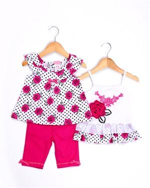Nannette Girl Floral Three-Piece Set