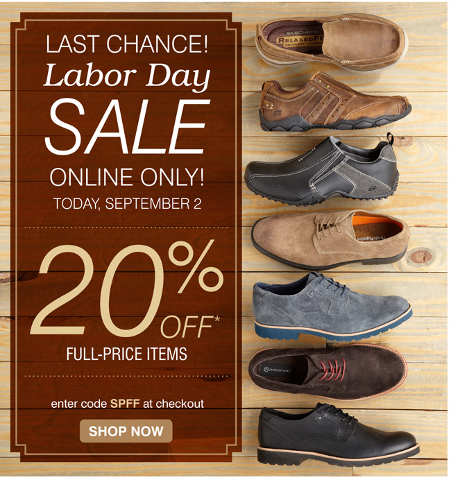Last Chance: 20% off full priced items