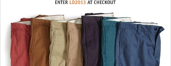 Enter LD2013 at checkout