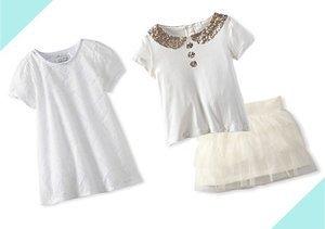 Clean & Crisp: Girls' White Styles