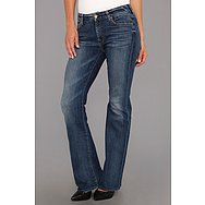 7 For All Mankind Short Inseam Kimmie Bootcut in Destroyed Rue De Lille
