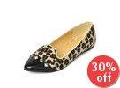 Stud Detail Faux Fur Loafers