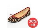 Faux Fur Leopard Print Ballet Flats