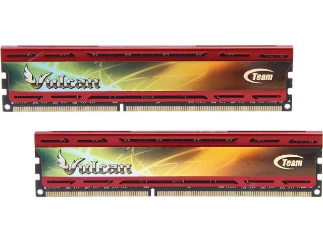 Team Vulcan 8GB (2 x 4GB) 240-Pin DDR3 SDRAM DDR3 1866 (PC3 14900) Desktop Memory Model TLD38G1866HC11DC01