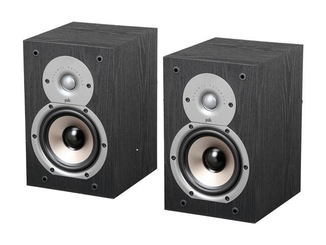 Polk Audio New Monitor 35B Compact Bookshelf Loudspeaker (Black) Pair