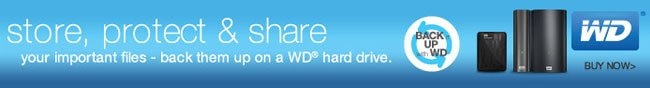STORE, PROTECT AND SHARE. YOUR IMPORTANT FILES - BACK THEM UP ON A WD HARD DRIVE. BUY NOW.