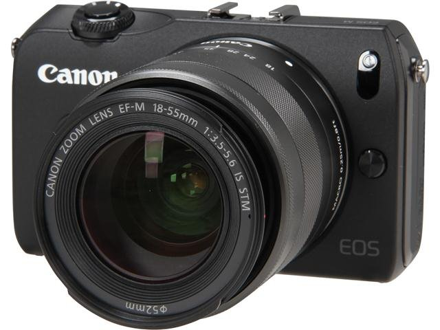Canon EOS M (6609B074) Black 18 MP 3.0 inch 1040K LCD Compact Mirrorless System Camera with EF-M 18-55mm f/3.5-5.6 IS STM Kit