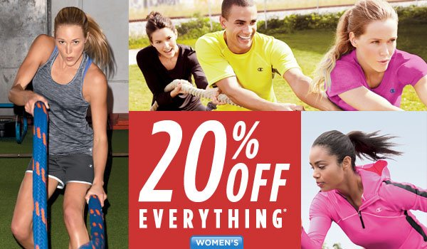 SHOP Women's 20% Off!