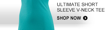 ULTIMATE SHORT SLEEVE V–NECK TEE SHOP NOW »