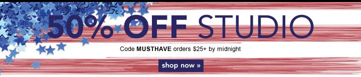 Extended 50% off Studio. Code: MUSTHAVE - shop now