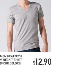 MEN HEATTECH V NECK T-SHIRT