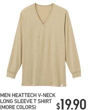 MEN HEATTECH V NECK LONG SLEEVE T-SHIRT