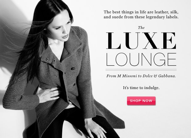 The Luxe Lounge: M Missoni & More