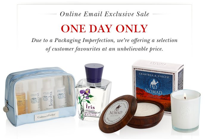 SALE FOR ONE DAY ONLY. Shop Now.