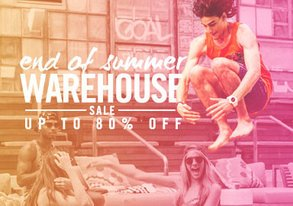 Shop End of Summer Warehouse Sale