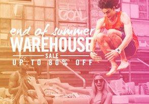 Shop End of Summer Warehouse Sale