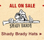 All Shady Brady Hats on Sale