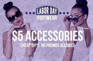 Accessories As Low As $5