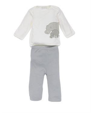 Lucky Jade Infant Boys' Hippo Print Long Sleeve Shirt and Pants Set