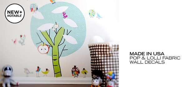 MADE IN USA: POP & LOLLI FABRIC WALL DECALS, Event Ends September 6, 9:00 AM PT >