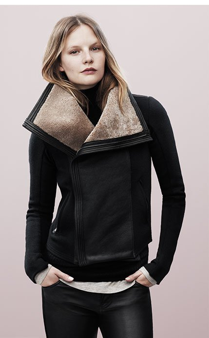 Motorcycle Jacket with Shearling