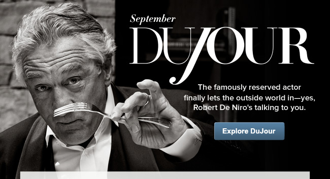 September DuJour: The famously reserved actor finally lets the outside world in