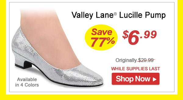 Valley Lane® Lucille Pump - Save 77% - Now Only $6.99 Limited Time Offer