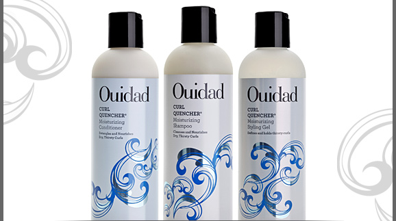 Ouidad Curl Quencher Moisturizing Conditioner, Moisturizing Shampoo, and Moisturizing Styling Gel