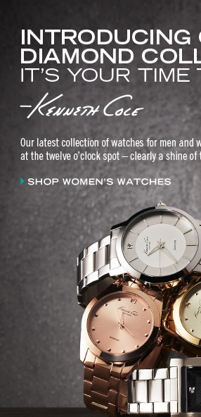 Our latest collection of watches for men and women feature a diamond at the twelve o'clock spot. // Women's Watches