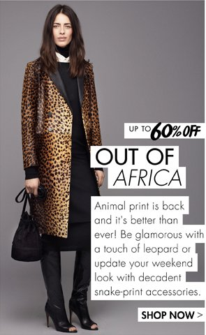 OUT OF AFRICA UP TO 60% OFF