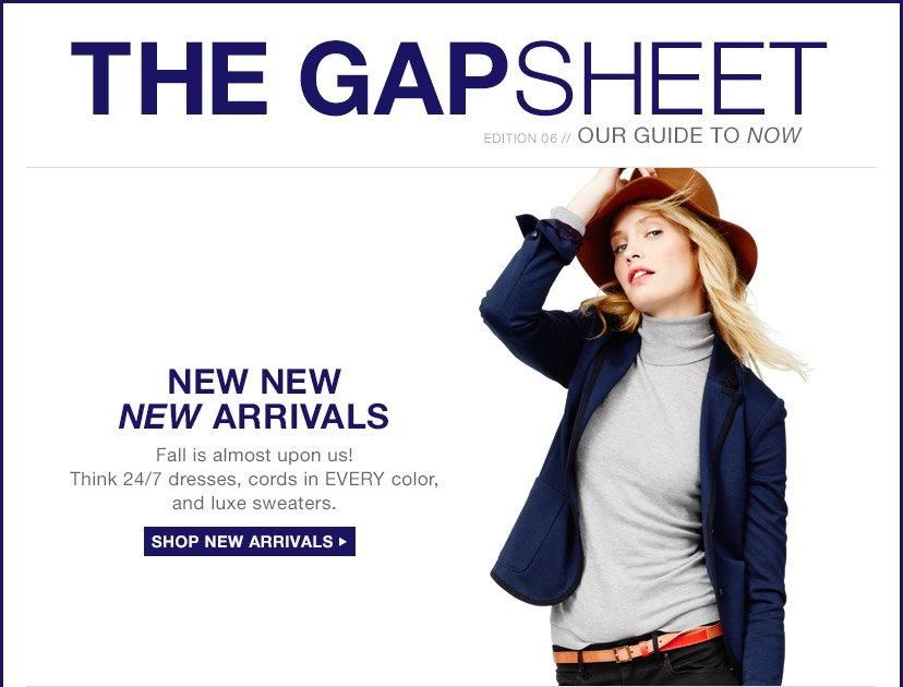 THE GAPSHEET | SHOP NEW ARRIVALS