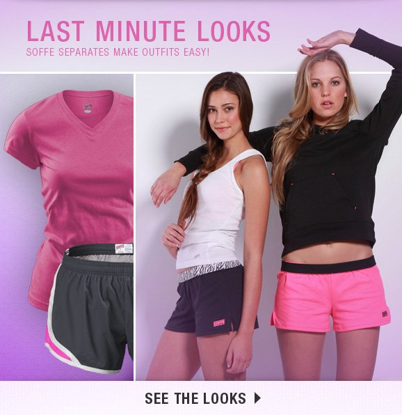 Last minute looks. Soffe seperates make outfits easy!