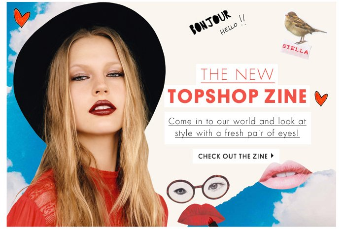 The new Topshop zine - Check out the zine